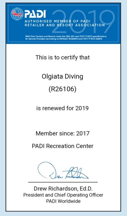 Certificazione Padi