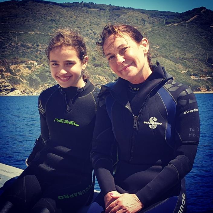 Il divertimento ed il piacere di immergersi con i propri figli!!