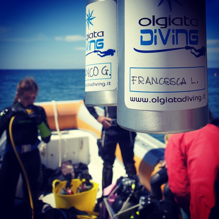 Le borracce di Olgaita Diving