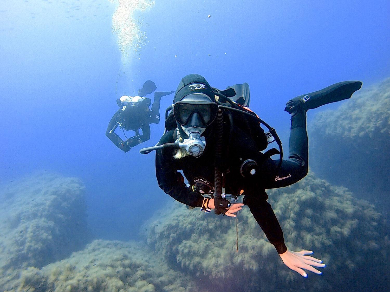le donne e la subacquea